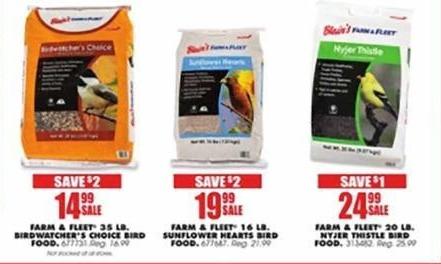Blains Farm Fleet Black Friday: Farm & Fleet 20 LB. Nyjer Thistle Bird Food for $24.99