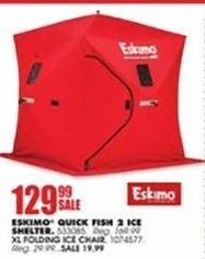 Blains Farm Fleet Black Friday: Eskimo Quick Fish 2 Ice Shelter for $129.99