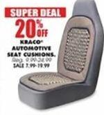 Blains Farm Fleet Black Friday: Kraco Automotive Seat Cushions - 20% Off