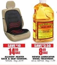 Blains Farm Fleet Black Friday: Allison Heated Back & Seat Cushion for $14.99