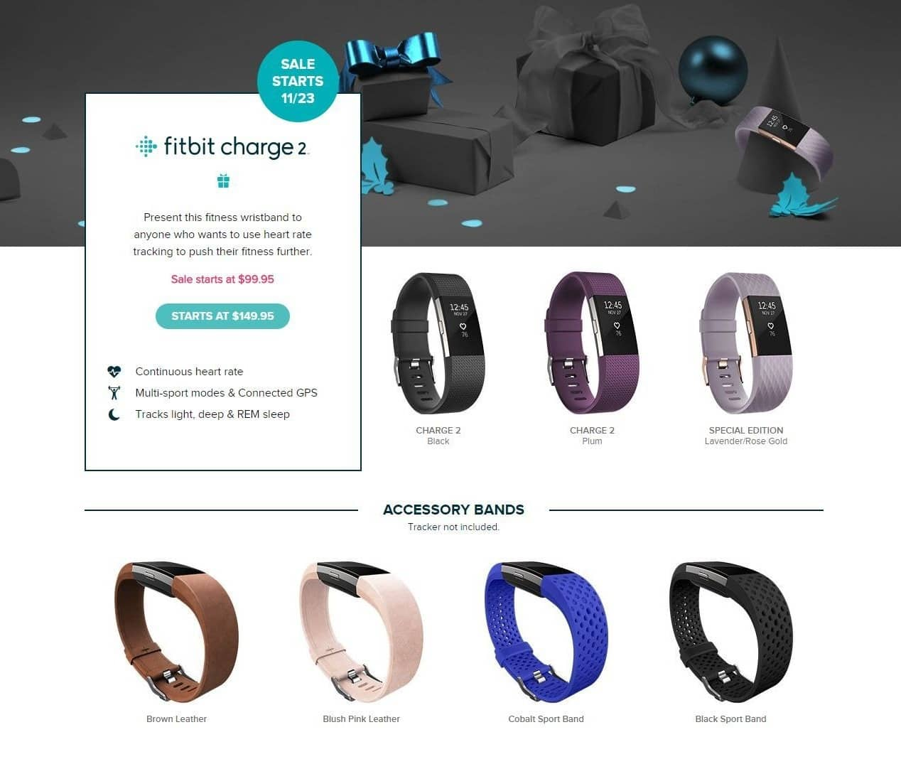 Fitbit Black Friday: Fitbit Charge 2 - $99.95 & UP