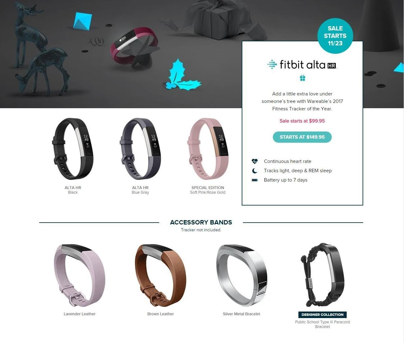 Fitbit Black Friday: Fitbit Alta HR - $99.95 & UP