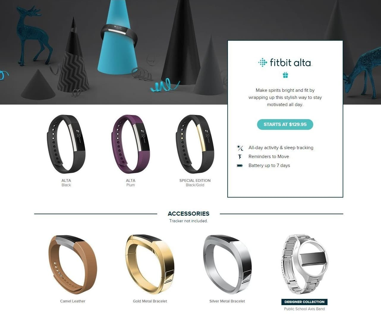 Fitbit Black Friday: Fitbit Alta - $129.95 & UP
