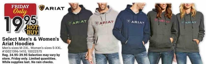 Farm and Home Supply Black Friday: Ariat Select Men's & Women's Hoodies for $19.95