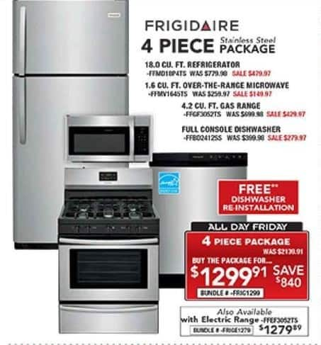 PC Richard & Son Black Friday: Frigidaire 4-Piece Stainless Steel ...