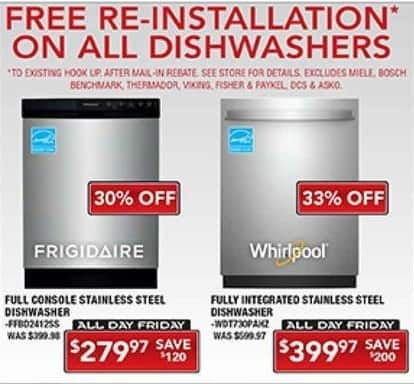 PC Richard & Son Black Friday: Frigidaire Full Console Stainless Steel Dishwasher for $279.97