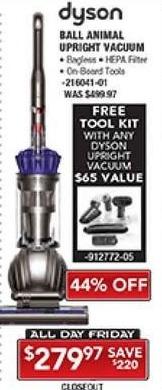 PC Richard & Son Black Friday: Dyson Ball Animal Upright Vacuum + Free Tool Kit for $279.97