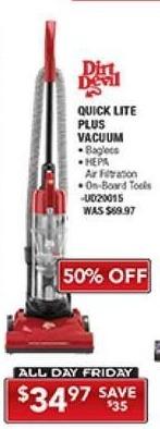 PC Richard & Son Black Friday: Dirt Devil Quick Lite Plus Vacuum for $34.97