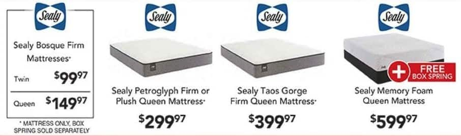PC Richard & Son Black Friday: Sealy Petroglyph Firm or Plush Queen Mattress for $299.97