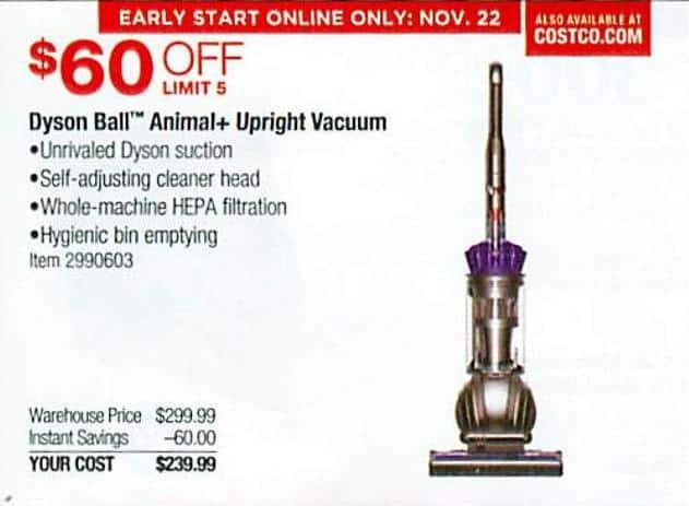 Costco Whole Black Friday Dyson Ball Animal Upright Vacuum For 239 99
