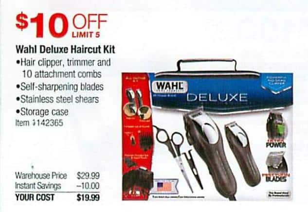 Costco Wholesale Black Friday Wahl Deluxe Haircut Kit For 1999