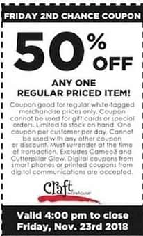 Craft Warehouse Black Friday Any One Regular Priced Item 50 Off