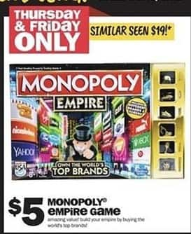Five Below Black Friday Monopoly Empire Game For 5 00