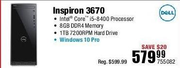 Micro Center Black Friday: Dell Inspiron 3670 Desktop PC: Intel Core