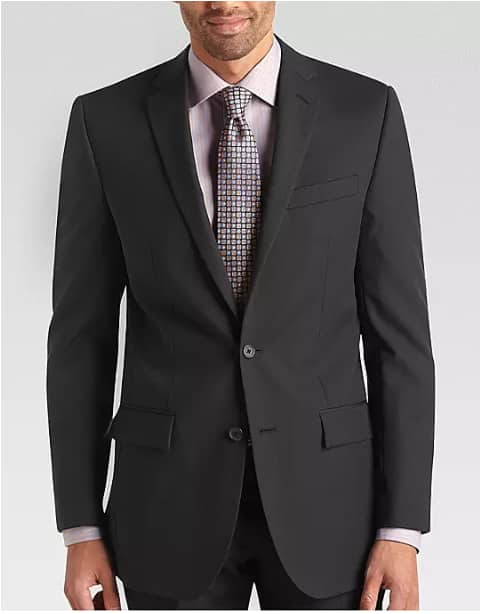 Egara Charcoal Stripe Slim Fit Suit Separates Coat $20