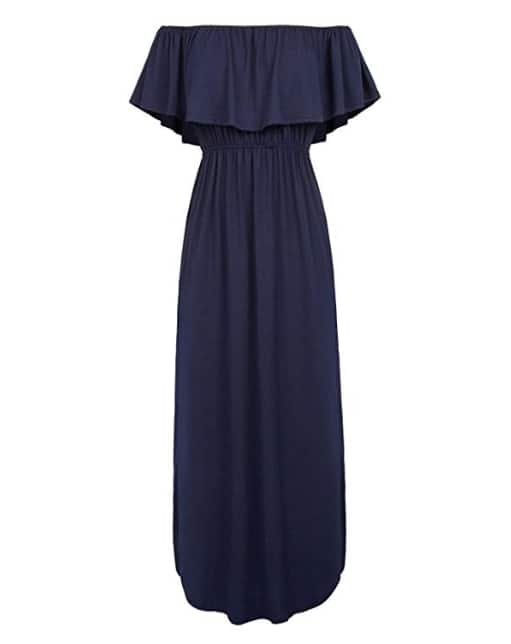 Womens Off The Shoulder Ruffle Party Summer Dresses Maxi Dress(free shipping+60% off code ) $12