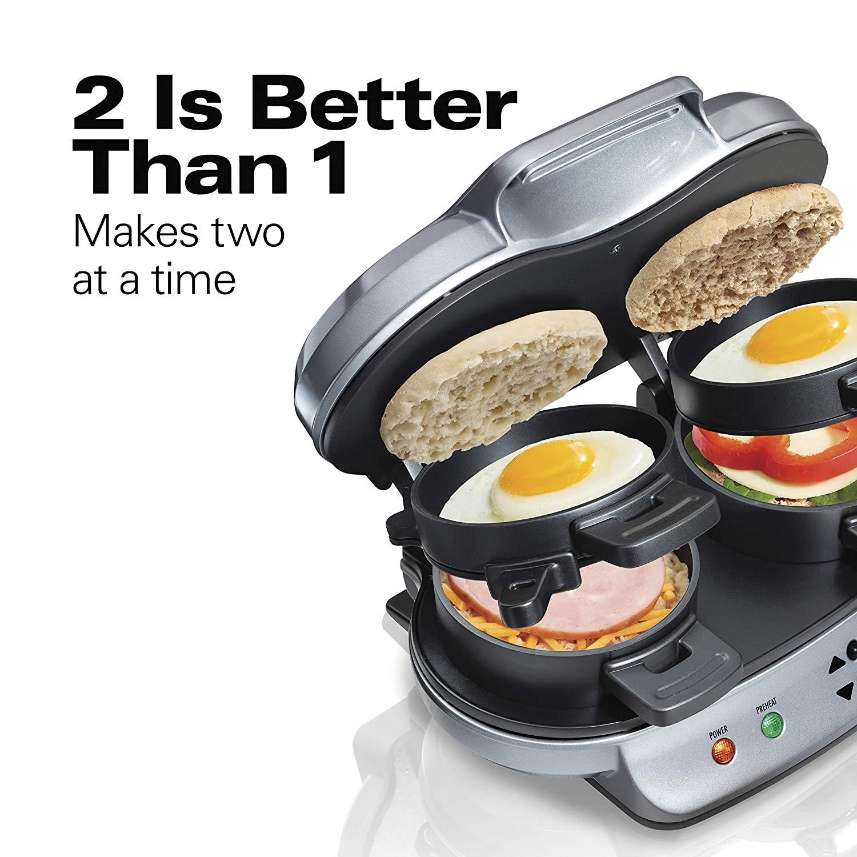 Hamilton Beach Dual Breakfast Sandwich Maker (25490) $27.48
