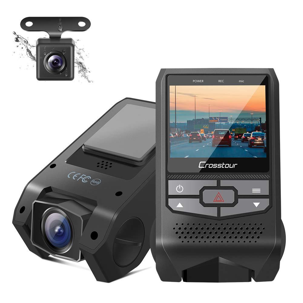 Crosstour Dual Dash Cam Front and Rear FHD 1080P Mini Dash Cam $39.99