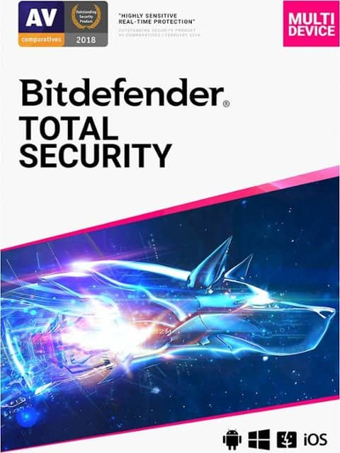 BitDefender Total Security (5-Device) 2 Year $39.99