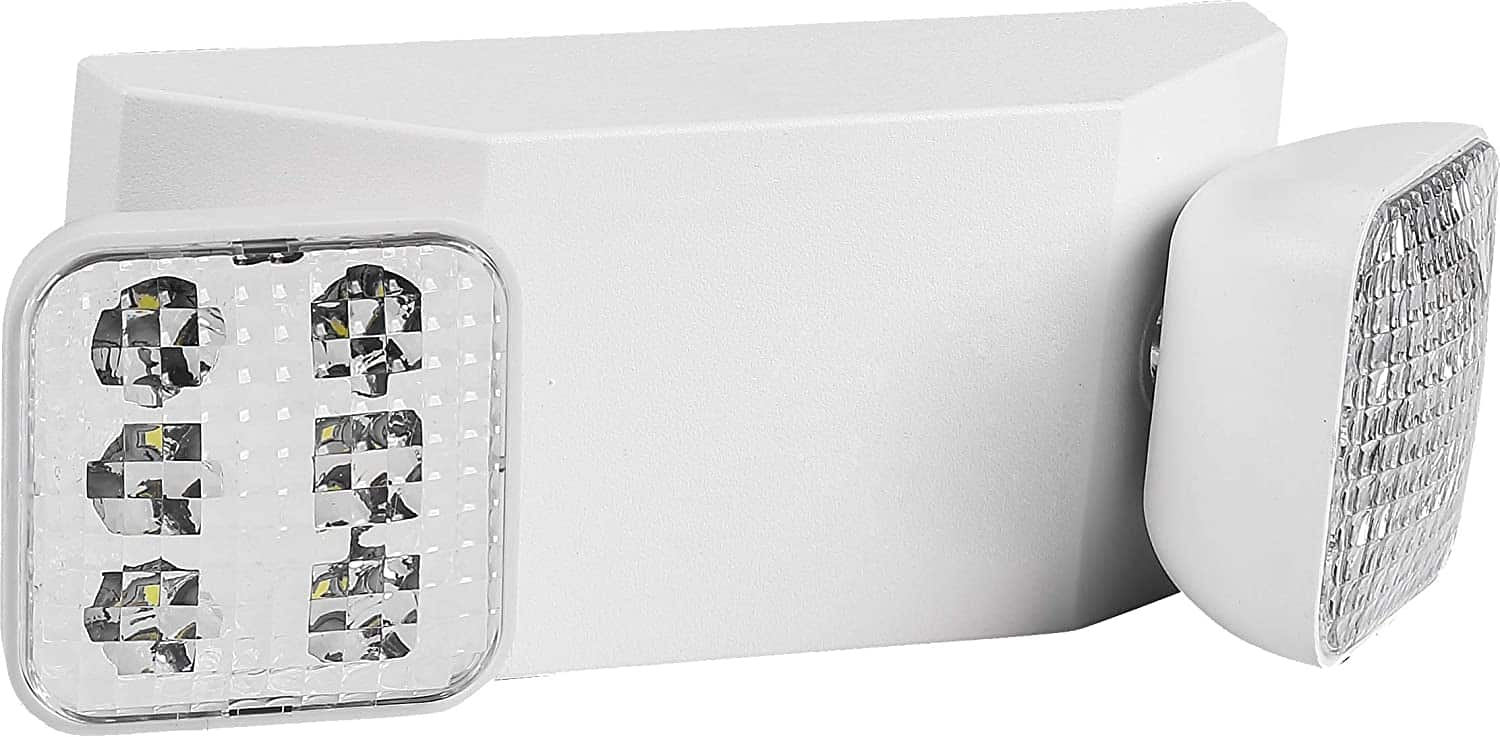LED Emergency Light | Ultra-Bright White Light with Back-up Battery, Adjustable Lamps & 90-Minute Minimum Capacity $16.96
