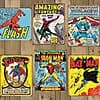 "Marvel & DC Comics Officially Licensed 16""x12.5"" Tin Signs"