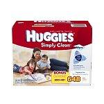 648-Ct Huggies Simply Clean Fragrance Free Baby Wipes Refill