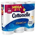 9-Pack Cottonelle  Clean Care Mega Roll Toilet Paper $5.50 (In-Store Only via Cartwheel App) *Today Only* [Equiv. to ~36 Reg. Rolls]