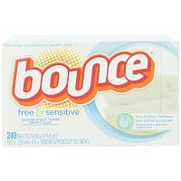 Amazon Deal: 240-Count Bounce Free & Sensitive Fabric Softener Sheets