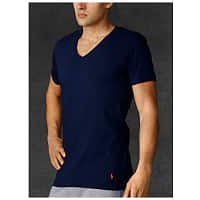 Ralph Lauren Deal: 3-Pack Polo Ralph Lauren Men's Classic V-Neck T-Shirts (Green, Blue & Navy)