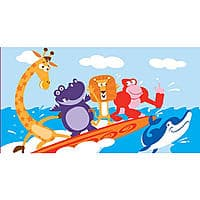 Toys R Us Deal: Kids' Beach Towels: Octopus, Lobster, Tree Monkeys or Geoffrey & Friends