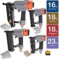 Home Depot Deal: 9-Piece HDX Pneumatic Finishing Kit w/ Measuring Tape
