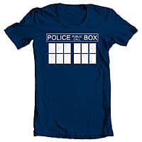 Hobo Ninja Deal: Doctor Who Tardis Men's T Shirt (Blue)
