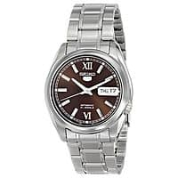 Rakuten (Buy.com) Deal: Seiko Men's 5 Silver Watch + $8 Rakuten Cash