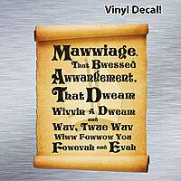 Hobo Ninja Deal: The Princess Bride 'Mawwiage' Scroll (4