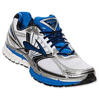 Finish Line Deal: Men's Brooks Adrenaline GTS 14 Running Shoes (White/Silver)