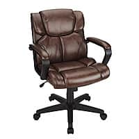 Office Depot and OfficeMax Deal: Brenton Studio Briessa Mid-Back Vinyl Chair (Black or Brown)
