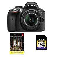 eBay Deal: Nikon D3300 DSLR Camera + 18-55mm VR II Lens (Refurb) + Adobe LR5 + 16GB SDHC Card