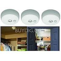 BuyDig Deal: 3-Pack Mr Beams Indoor/Outdoor Motion-Sensing LED Ceiling Lights $33.50 + Free Shipping