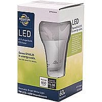 Staples Deal: Brighton Professional A19 9-Watt 800 Lumens LED Dimmable Light Bulb