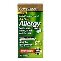 Amazon Deal: 365-ct. 10mg Good Sense Cetirizine Allergy Relief Tablets