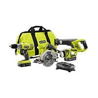 Home Depot Deal: 4-Piece Ryobi One+ 18V Lithium-Ion Combo Kit