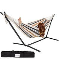Rakuten (Buy.com) Deal: Double Hammock with Space-Saving Steel Stand + $12 Rakuten Cash