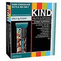 Amazon Deal: 12-Pack Kind Nuts & Spices Bars (Dark Chocolate Nuts & Sea Salt)