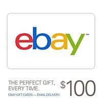 eBay Deal: $100 eBay Gift Card (Email Delivery)