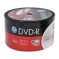 50-Pack HP 4.7GB 16X DVD-R Disc Spindle (DM00070B) for Free After Coupon + S&H w/ Purchase of 5+ @ Newegg.com