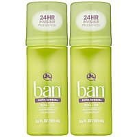 Amazon Deal: 2-Pack of 3.5oz. Ban Roll-On Satin Breeze Deodorant