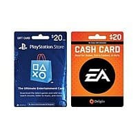 Prepaid Gaming Cards: Xbox, PlayStation, EA Cash Card & More