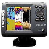 Lowrance Elite-5 HDI Fishfinder Marine GPS Chartplotter