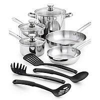 12-Piece Tools of the Trade Stainless Steel Cookware Set