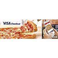 Papa John's w/ Visa Checkout: